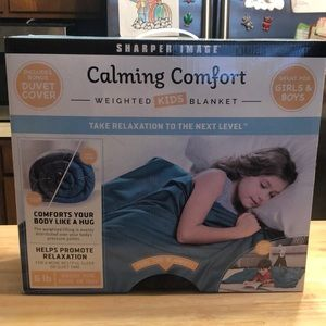 NIB sharper image calming comfort weighted blanket